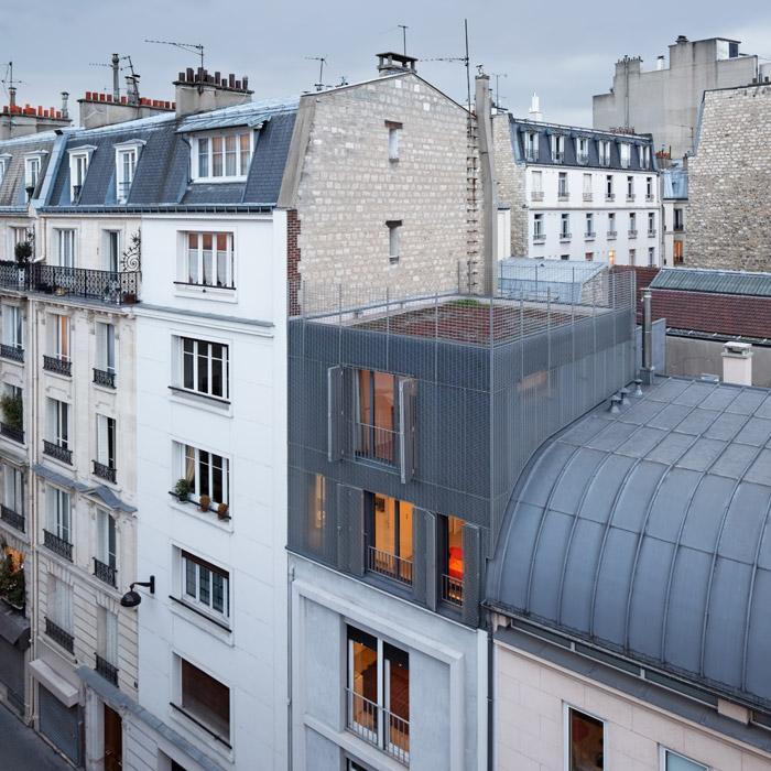 photographie d 39 architecture sur l vation d 39 une maison de ville paris hardel le bihan. Black Bedroom Furniture Sets. Home Design Ideas