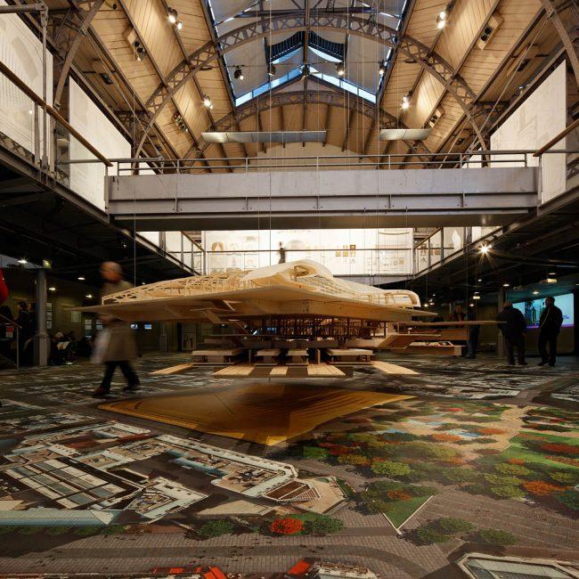 Maquette du projet des Halles, Patrick Berger architecte, Paris, 2010
