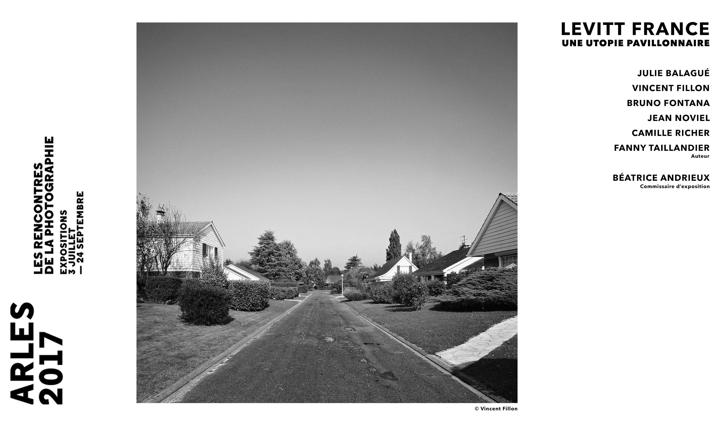 Rencontres de la photographies 2017, Levitt France, une utopie pavillonnaire.