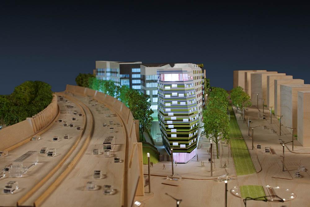 Maquette du projet Visalto, BNP Paribas Real Estate, Ateliers 2/3/4/, Moussafir Architectes, Manuelle Gautrand Architecture, 2010