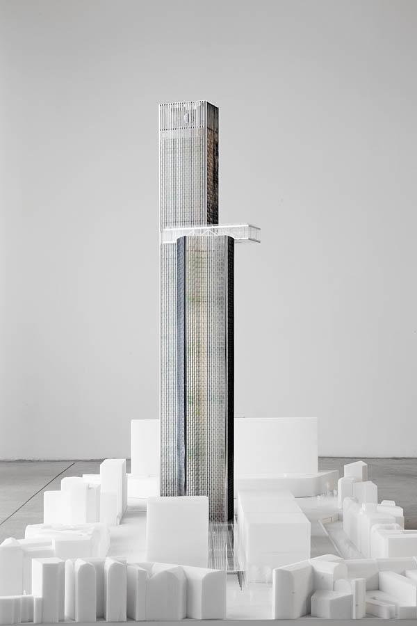 Maquette du projet tour montparnasse dominique perrault for Projet architecture paris